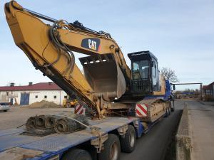 Transport von Baumaschinen